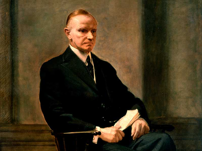 The first photo facsimile was of Calvin Coolidge in 1924.