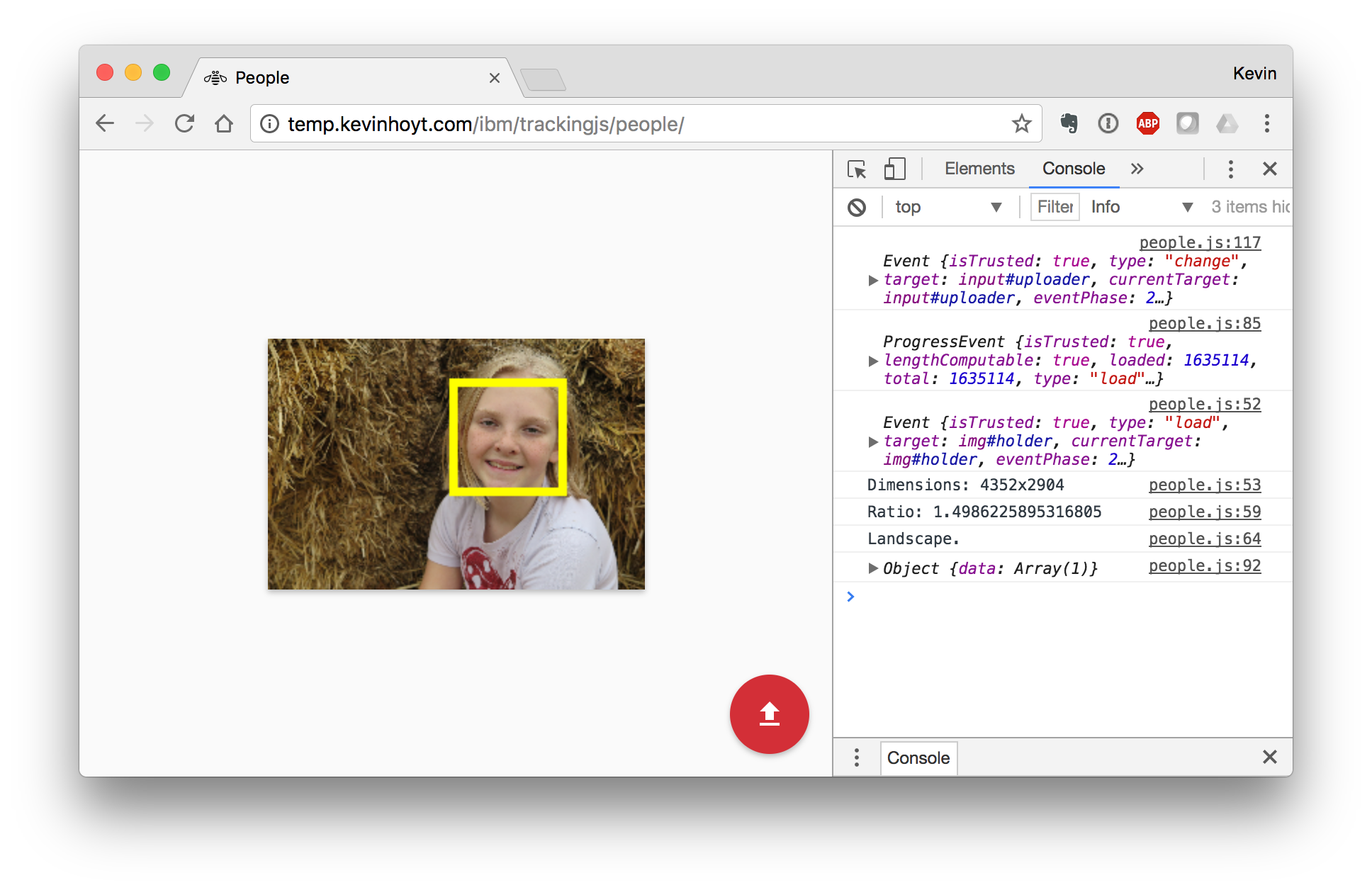 Face Detection with Tracking JS